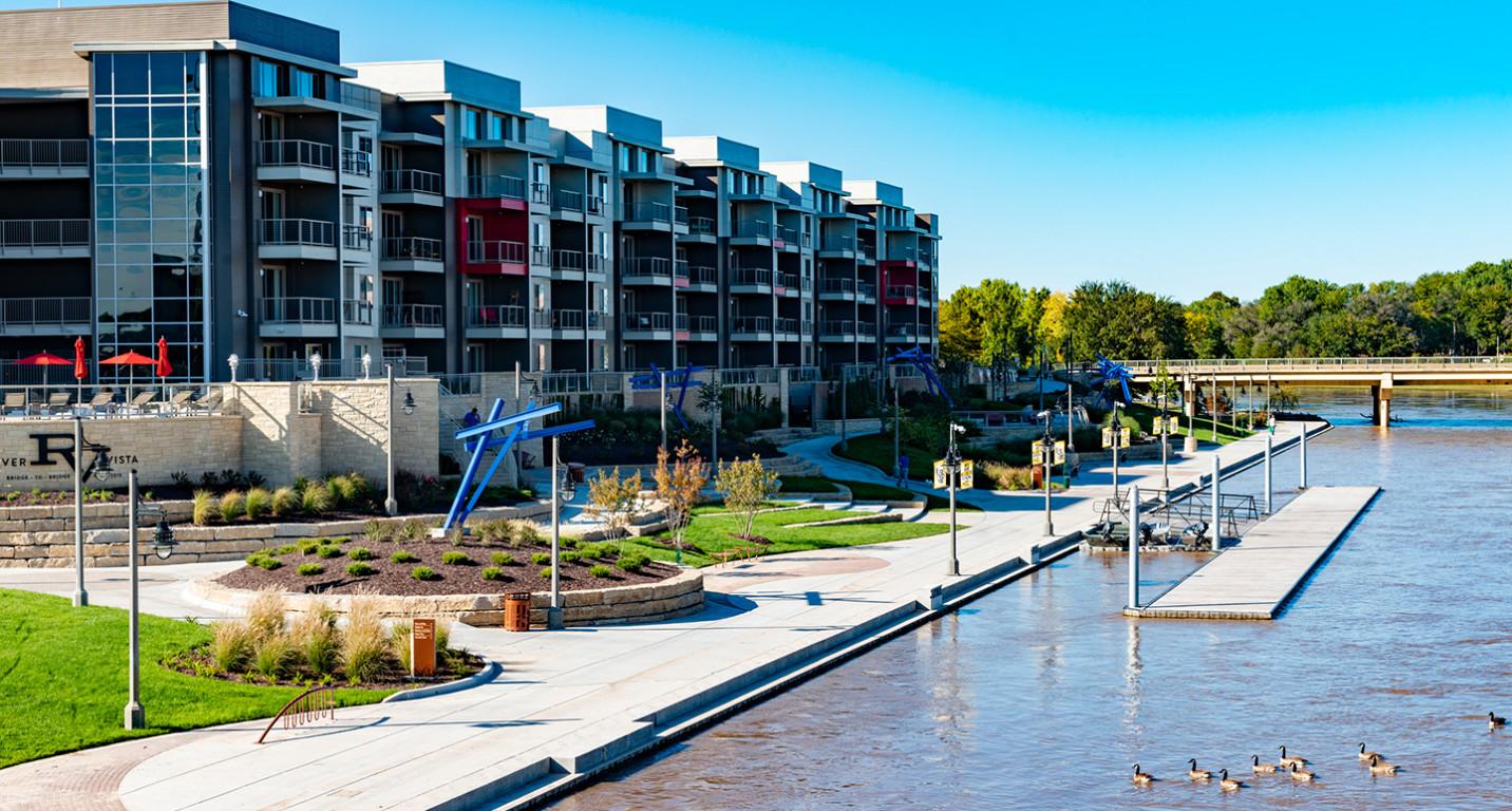 LK Architecture Landscape Architecture Arkansas River Corridor River Vista Wichita KS 01