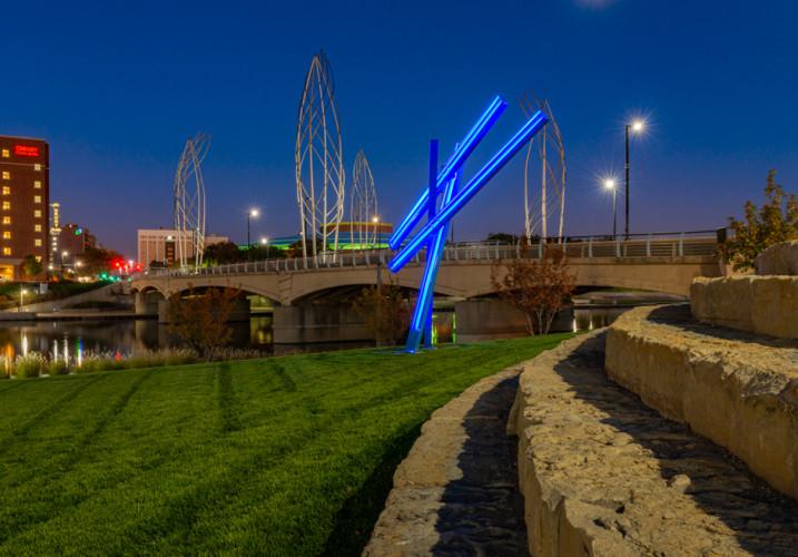 LK Architecture Landscape Architecture Arkansas River Corridor River Vista Wichita KS 12