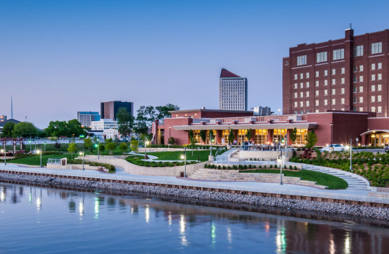 Arkansas River Corridor Improvement Project – Drury Plaza, Wichita, KS
