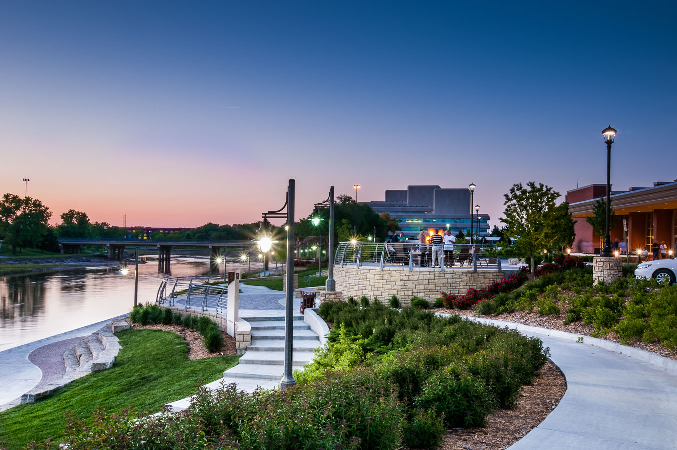 Industrial Office Design Lk Architecture Arkansas River Drury Plaza Wichita Ks
